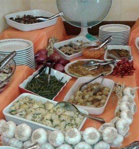 Buffet di cucina romana a Roma