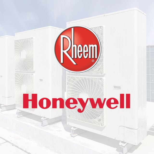 Rheem and Honeywell brand logos