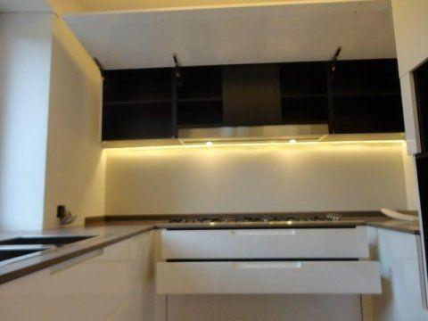 Cucina di color bianco e nero