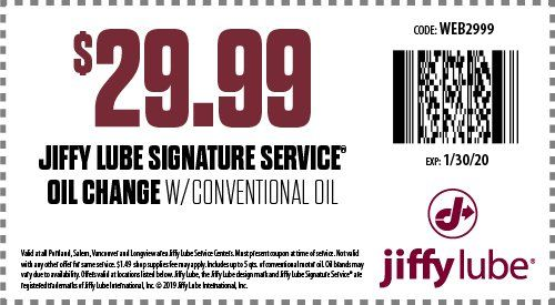 Oregon Jiffy Lube Oil Change Coupons Automotive Maintenance