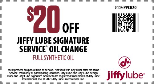 Jiffy lube emissions cost