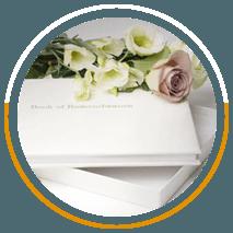 Ivory plain leather book