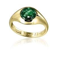 Green color tribute ring