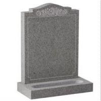 Grey marble gravestone