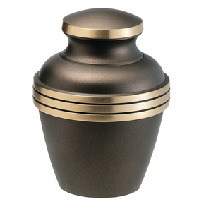 Gold and grey urn