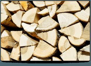 chopped seasoned logs