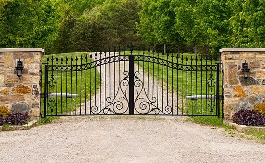 Double wrought-iron gate - Gate installation in Ventura, CA
