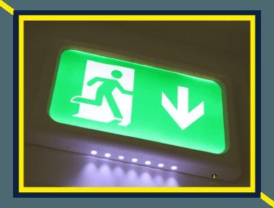 emergency exit arrow