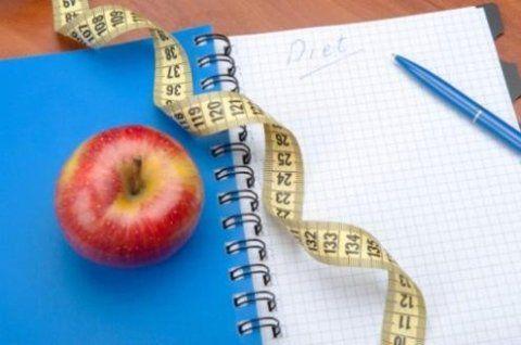 un quaderno aperto con scritto Diet