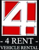 4 RENT VEHICLE RENTAL Company Logo