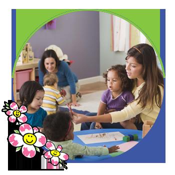 children at the nursery school