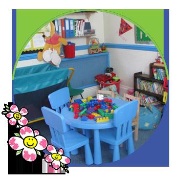 comfortable play school room