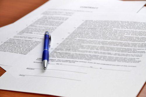 Penna sui documenti legali