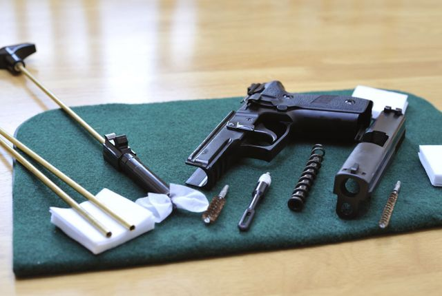 A gun and a cleaning kit from our gun store in Elizabethtown, KY