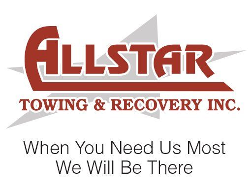 Allstar towing & recovery inc logo and slogan