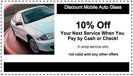 10% Off Discount Mobile Auto Glass Coupon