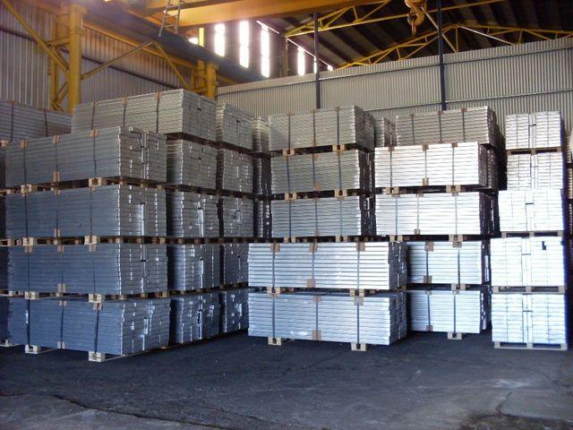 Stack of  aluminium pipes