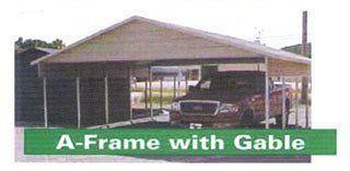 A-frame carport in Arkansas