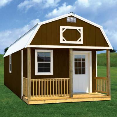 painted lofted barn cabin in arkansas
