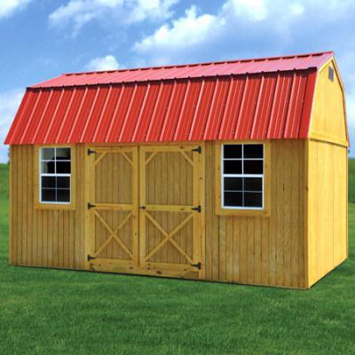 treated side lofted barn in arkansas