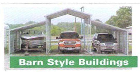 Barn style carport building in arkansas