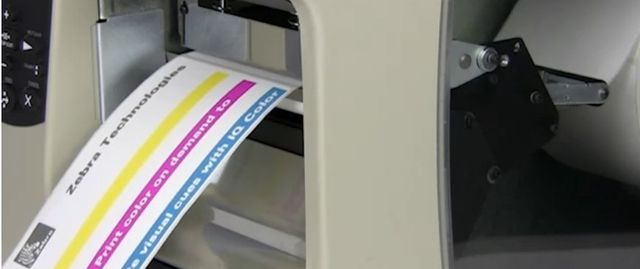How can Zebra IQ Color Thermal Labels help reduce