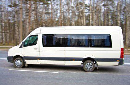 A white minibus