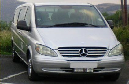 A silver Mercedes people-carrier