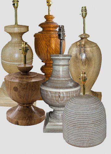 Bespoke oak lamps from 20 year old Oak beams