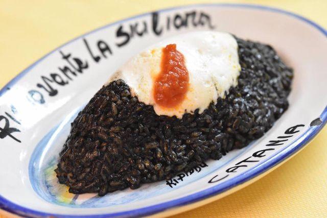 Piatto icona del ristorante: riso venere Etna