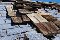 Broken tiles in need of roofing services in Morrinsville