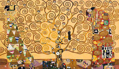 quadro Klimt l`albero della vita