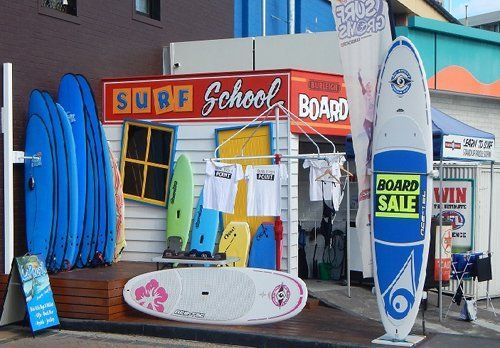 Wide variety of surfboard at the store