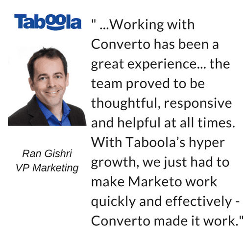 Taboola customer success quote by Ran Gishri