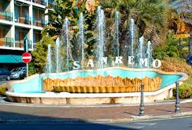 Fontana d'entrata a Sanremo