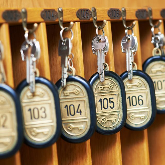 Keys to lodgings lined up