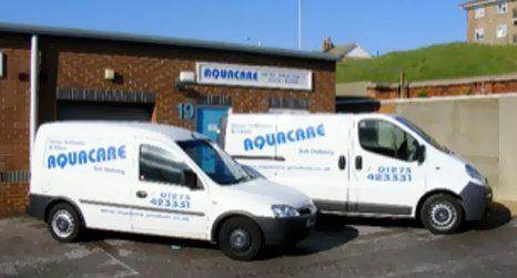side view of mobile van