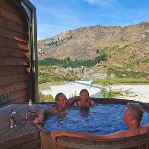 Stunning views with Onsen Hot Pools after having a Body Sanctum Massage