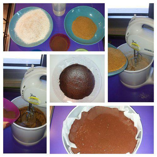 preparazione torta al cacao