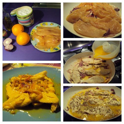 pollo con arancia e finocchio