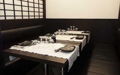 tavoli di un ristorante fusion