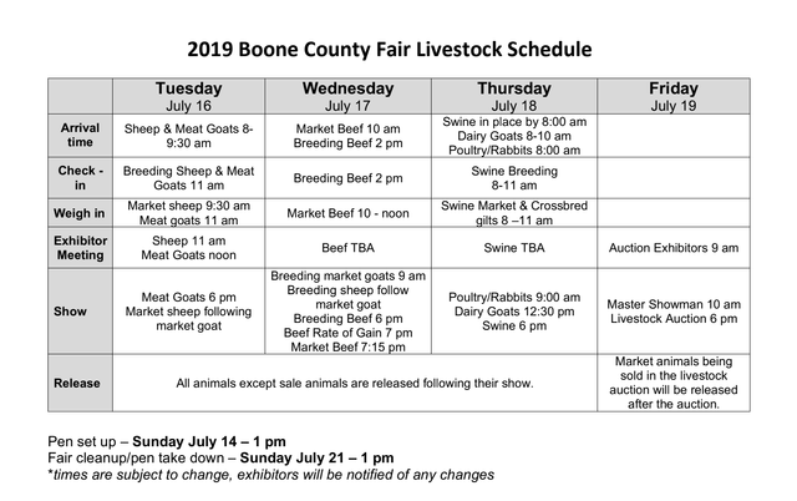 Livestock Shows   Boone County Fair