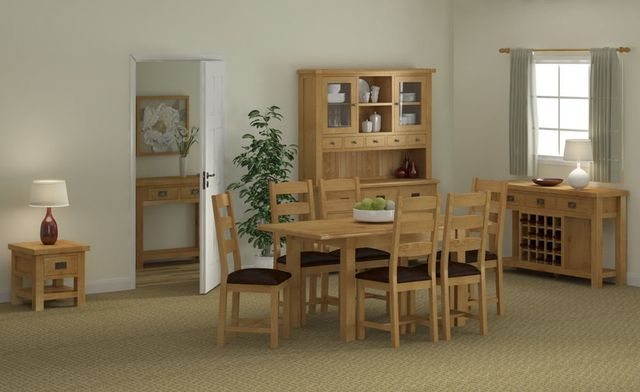 solid wood dining furniture, oak, pine, beech, painted