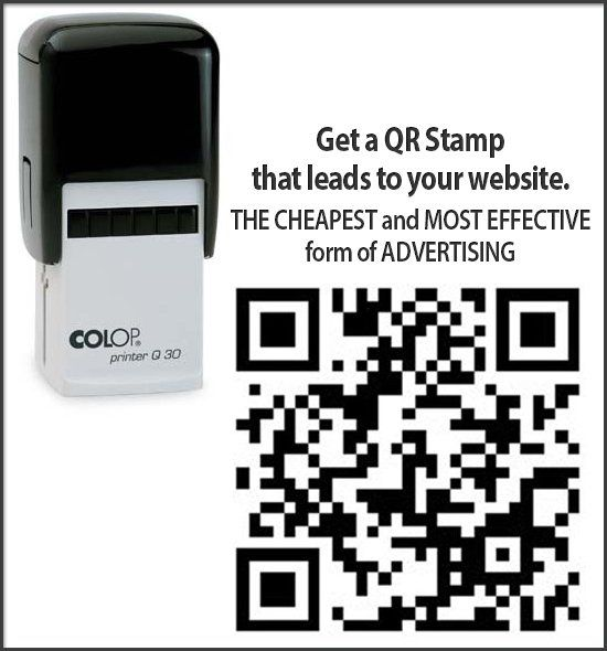 Bettaprint also makes QR Code Self-Inking Rubber Stamps for business.