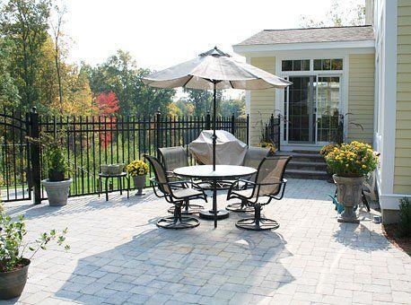 stone patio design and installation