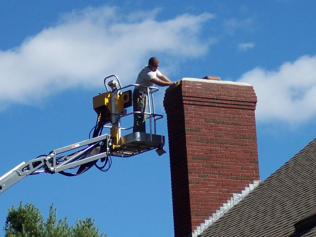 Brick chimney repair, stone chimney construction