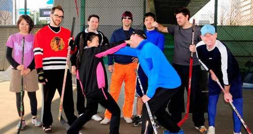 Street Hockey in Nagoya