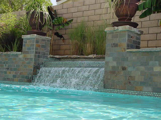 tilers in Wairarapa for swimming pools with waterfalls