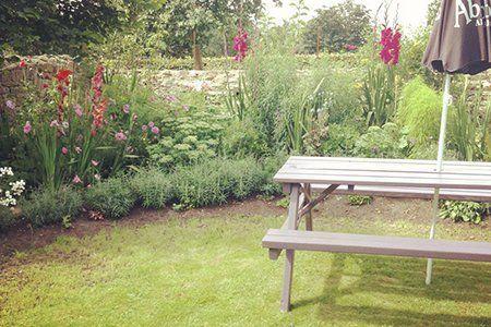 Spacious pub garden