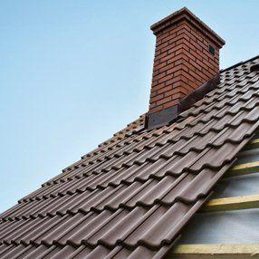 slate roof chimney